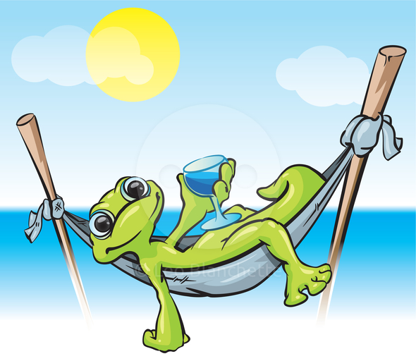 To Relax In Hammock Clipart