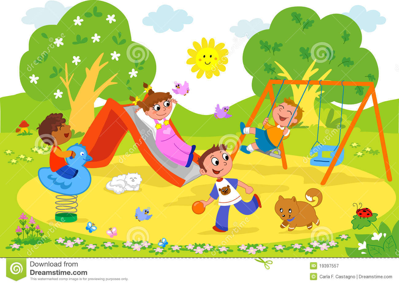 Park Play Cute Digital Clipar
