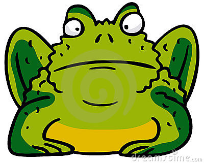 Brown Spotted Frog Clip Art A