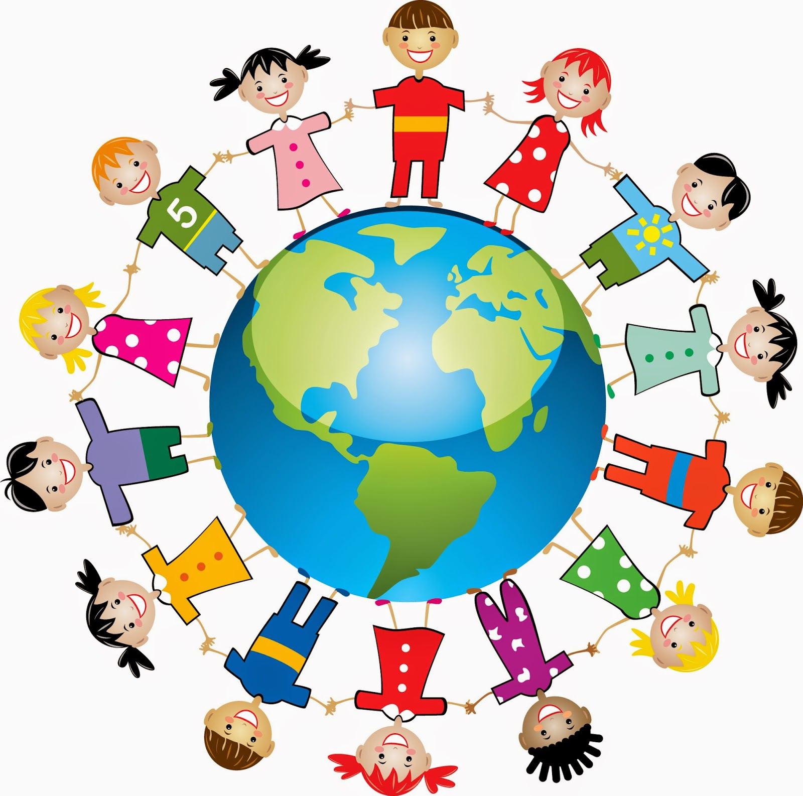 Toddler multicultural class clipart ...