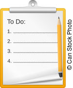 ToDo List - Clipboard with todo list, vector eps10.