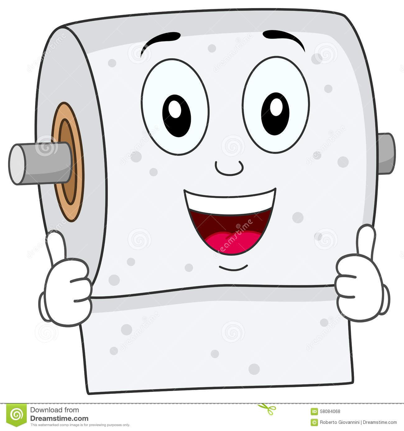 Toilet Tissue Clipart. Funny Toilet Pape-Toilet tissue clipart. Funny Toilet Paper Smiling .-18
