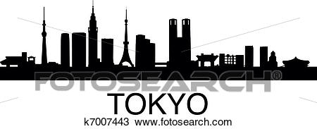 Clipart - Tokyo Skyline. Fotosearch - Search Clip Art, Illustration Murals,  Drawings and