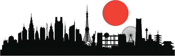 Tokyo (Buildings Are Detailed, Moveable -Tokyo (Buildings Are Detailed, Moveable and Complete) vector art  illustration-1
