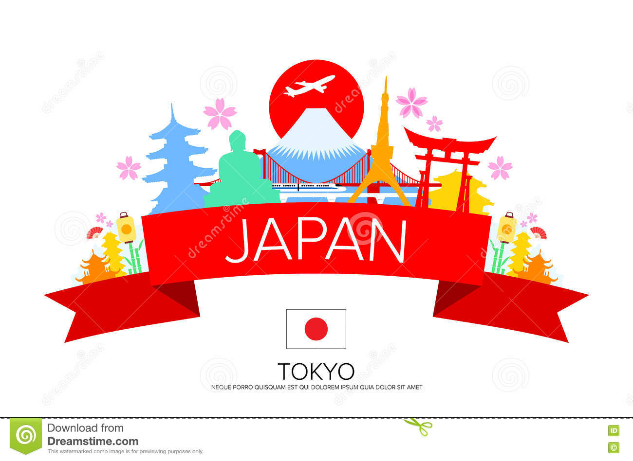 Tokyo Landmarks Stock Illustr - Tokyo Clipart
