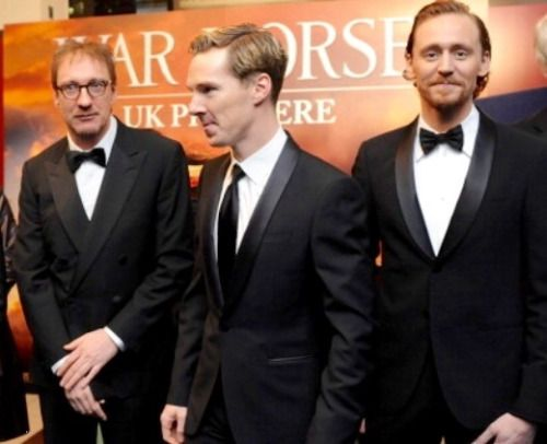 Benedict Cumberbatch With David Thewlis -Benedict Cumberbatch With David Thewlis and Tom Hiddleston War Horse  premiere-17
