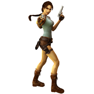 Lara Croft Side View