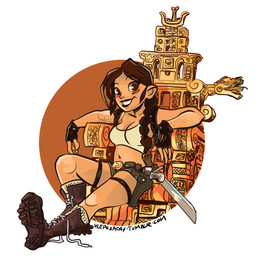 Lara Croft: Tomb Raider On A Golden Thro-Lara Croft: Tomb Raider on a Golden Throne by Qrjusz ClipartLook.com -4