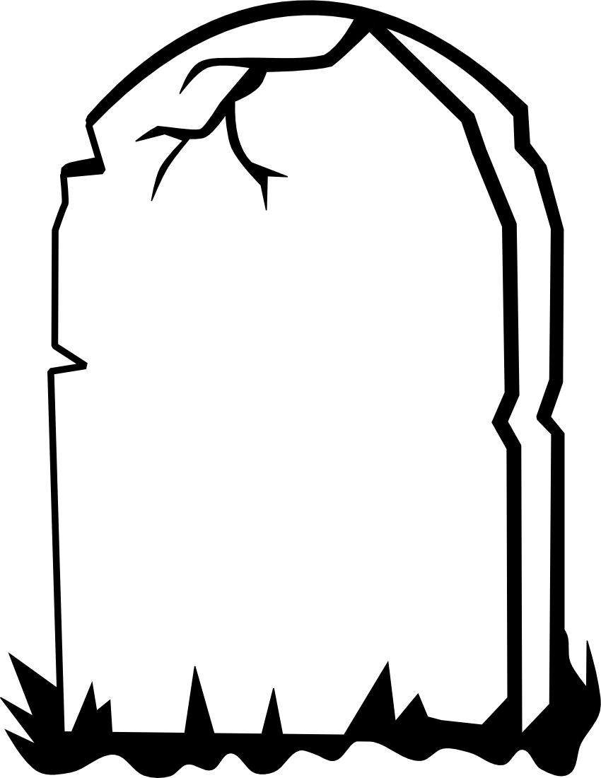 ... Tombstone clipart blank ...