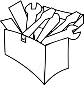 White Tool Box Clip Art - PNG Toolbox Bl-White Tool Box Clip Art - PNG Toolbox Black And White-18