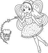 6+ Fairy Clipart Black And White   ClipartLook