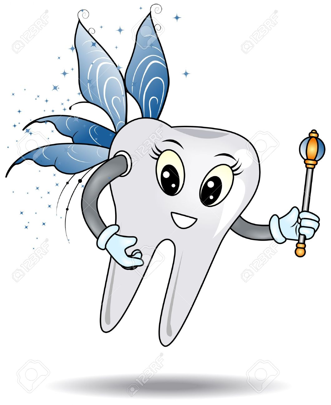 Tooth Fairy with Clipping Path Stock Vector - 3699154