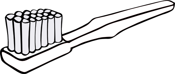 toothbrush clipart black and white