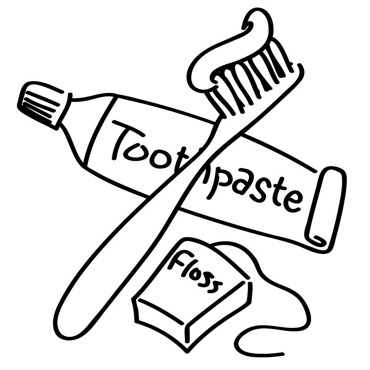 Awesome Toothbrush Clipart Coloring Page-Awesome Toothbrush Clipart Coloring Page Pencil And In Color Picture For  Dental Health Inspiration Books Popular FILES 7256 For Toothbrush Coloring  Page-1
