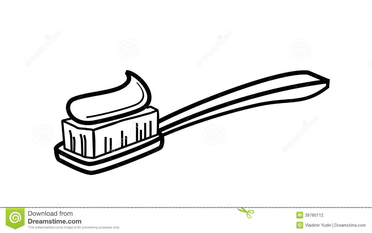 Toothbrush Clipart Black And White 20543937 Toothpaste