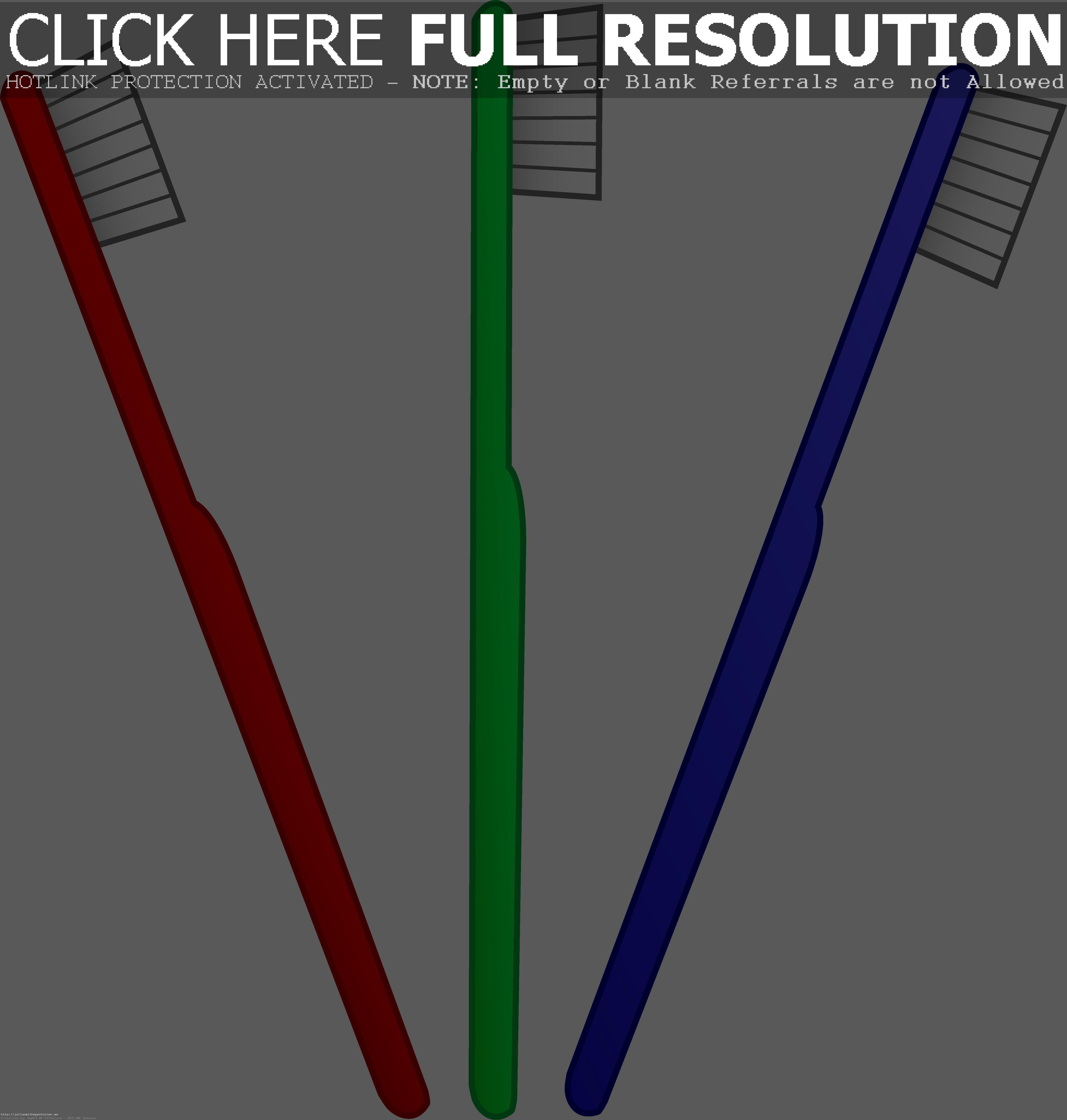 Three Toothbrushes Free Clip Art Endear -Three Toothbrushes Free Clip Art Endear Toothbrush ClipartLook.com -14