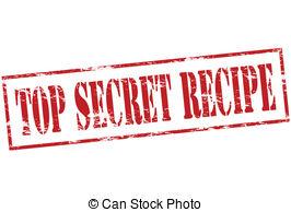 ... Top Secret Recipe - Rubber Stamp Wit-... Top secret recipe - Rubber stamp with text top secret recipe.-18