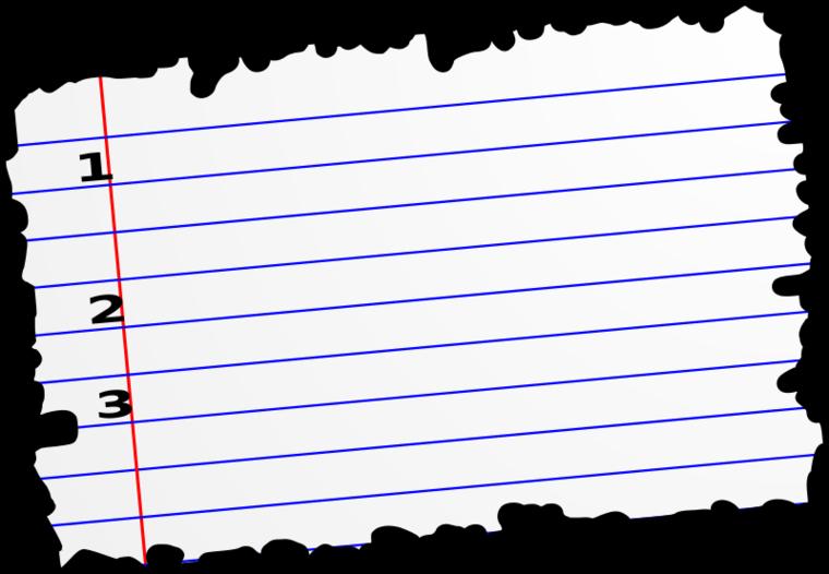 Torn Notebook Paper Clipart .