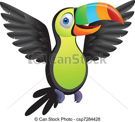 ... Toucan bird - Vector illustration of toucan bird, linear and.