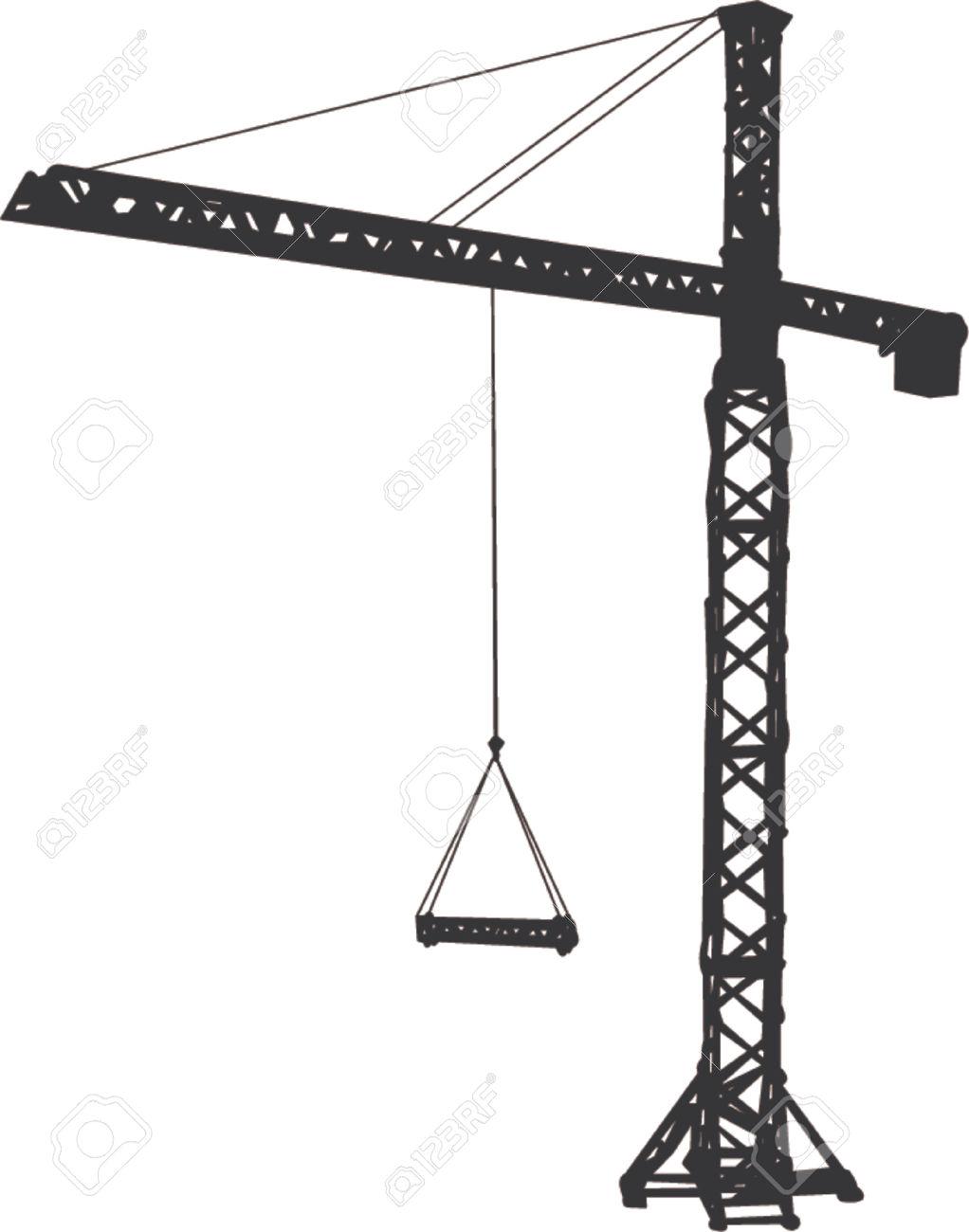 tower-crane clipart Stock Vector - 665553