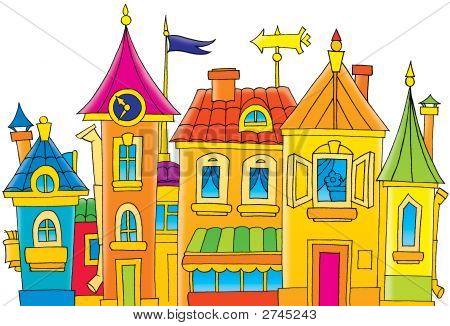 ... Town Clip Art ...