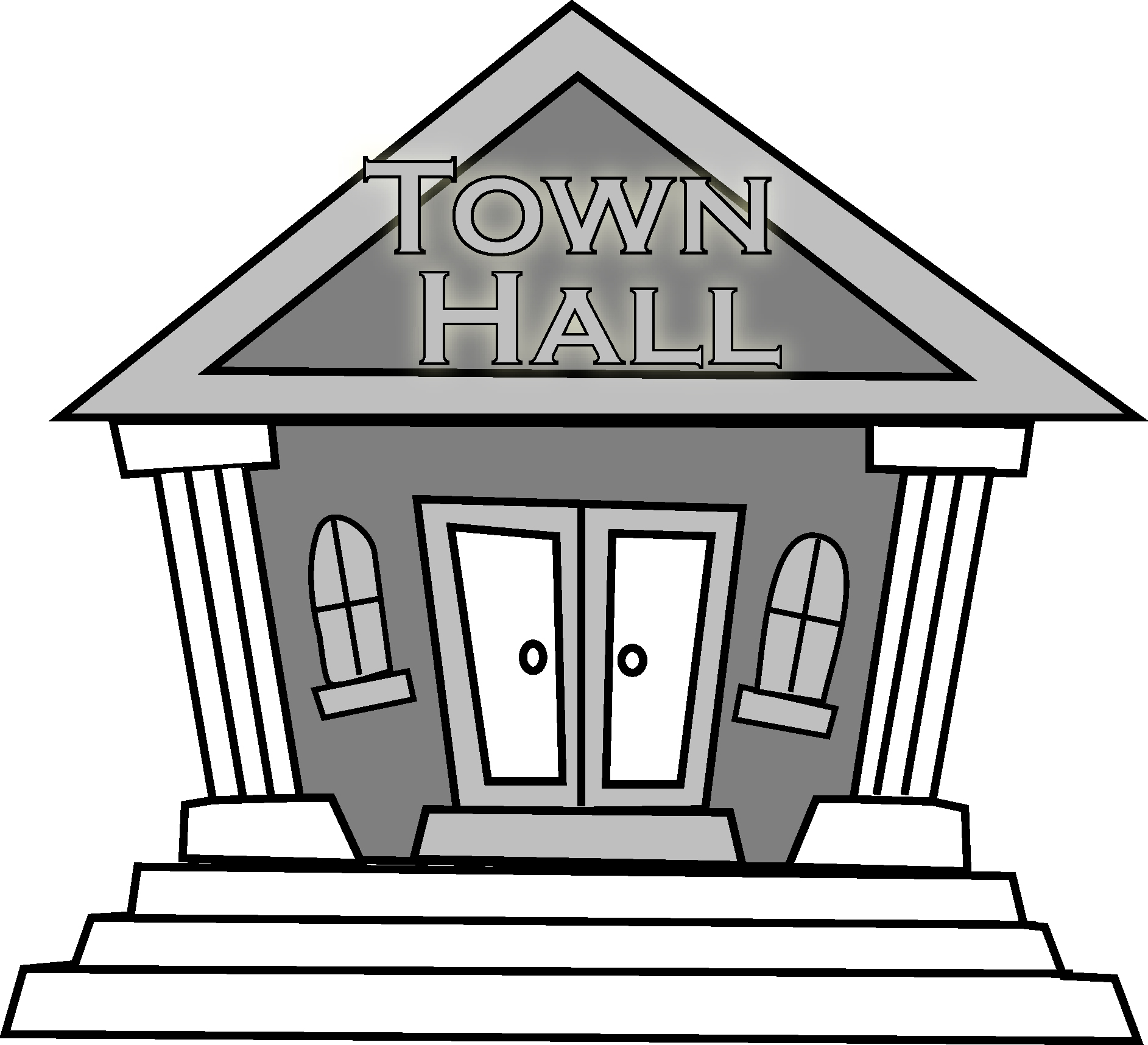 Town hall building clipart