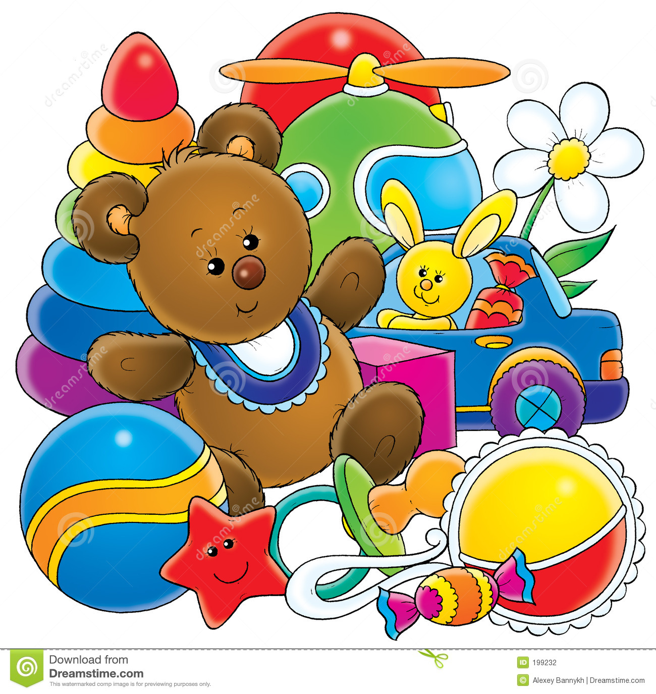 Toy Illustration For Children A Series B-Toy Illustration For Children A Series Baby-12