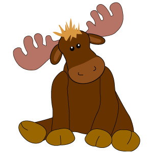 Toy Moose Clip Art, Stuffed .