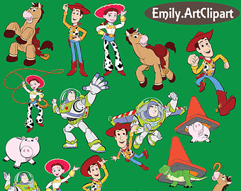 Toy Story Clipart Party Digital Images Toy Story Disney Clip Art Scrapbooking Invitations Printable Graphic INSTANT DOWNLOAD 300dpi