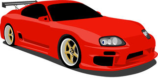 Red Toyota Supra Sports Car-Red Toyota Supra Sports Car-7