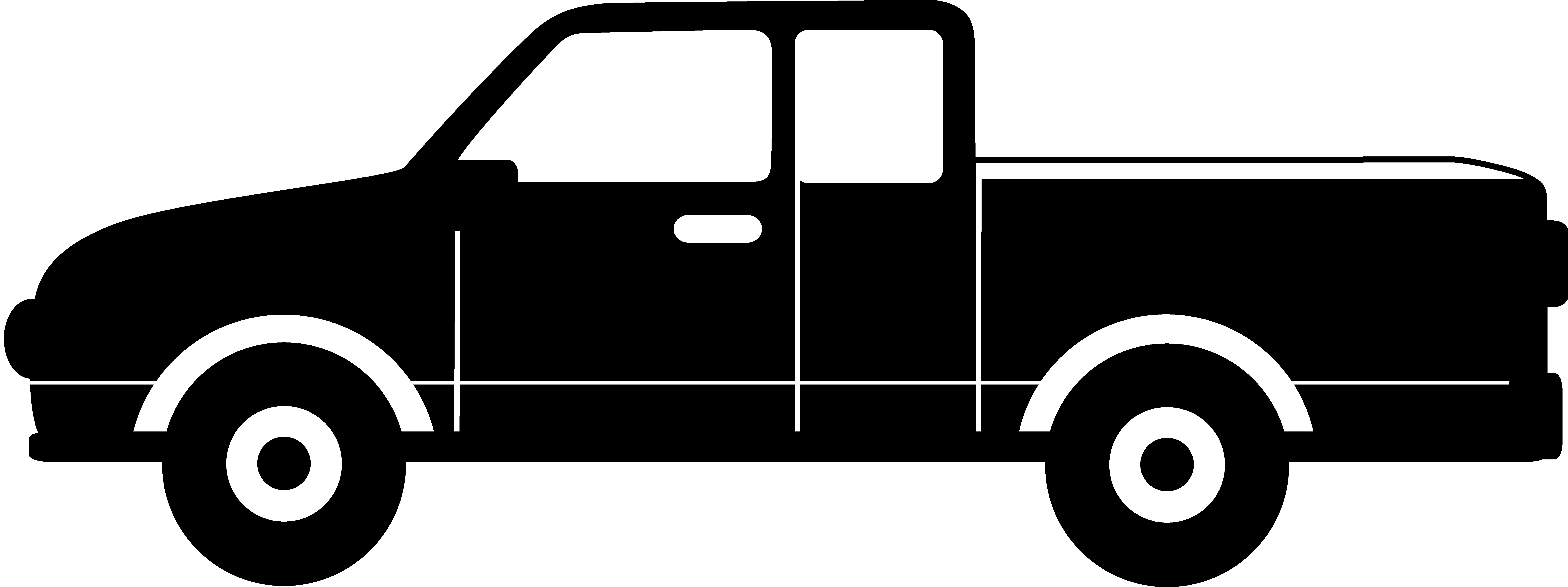 Toyota pickup truck clipart .