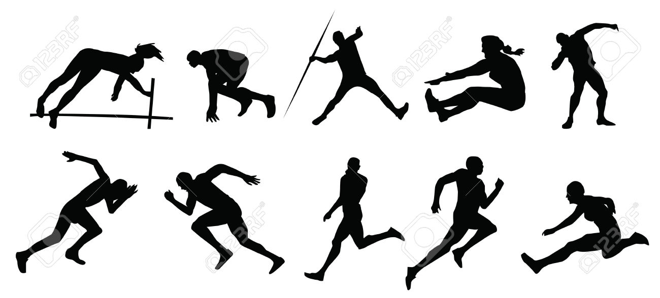 Track and field silhouette cl - Track And Field Clipart