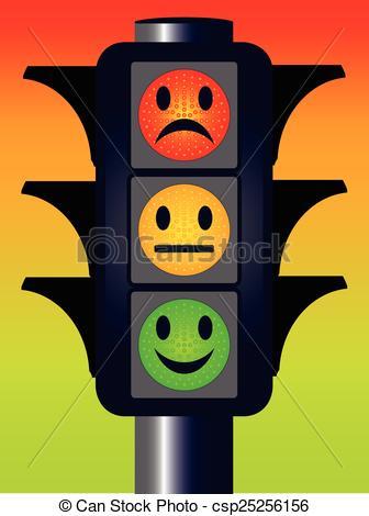 Face Traffic Lights - csp25256156
