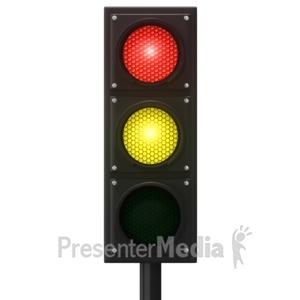 ID# 12882 - Europeon Traffic Light - Presentation Clipart