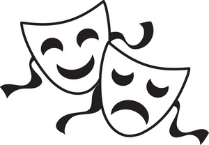 Tragedy 20clipart Clipart Pan - Drama Mask Clip Art