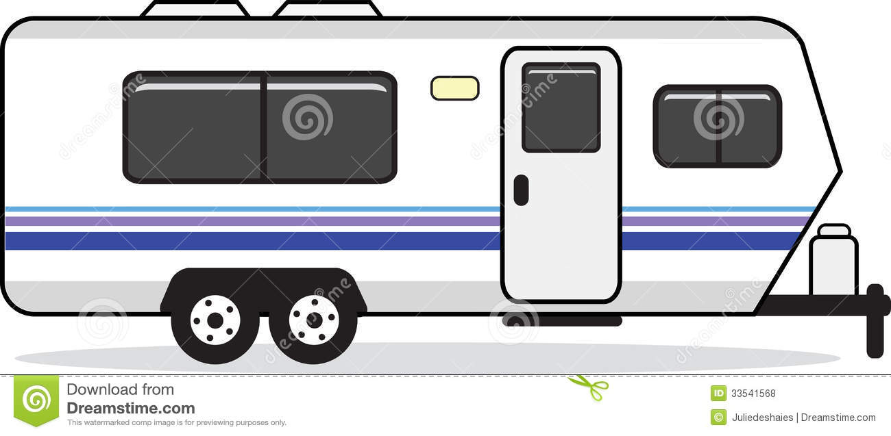 Trailer House Clipart Mobile  - Mobile Home Clipart