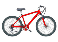 trails bike clipart. Size: 82 Kb