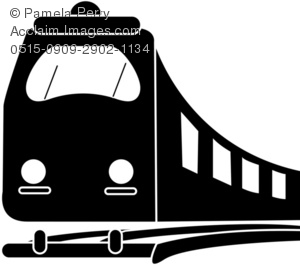 train clipart black and white