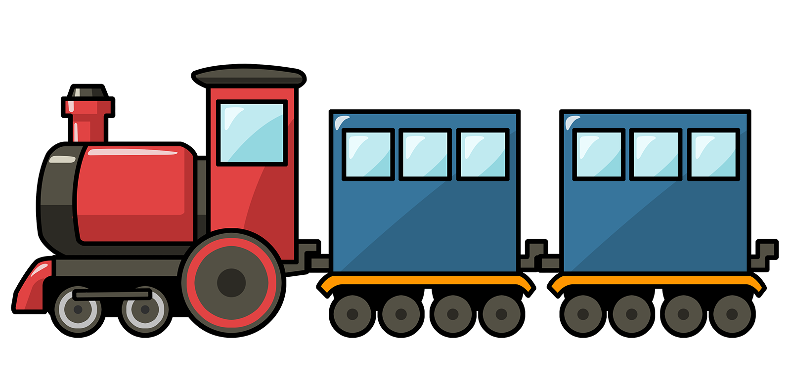 Cartoon Train | Free Cute Cartoon Train -Cartoon Train | Free Cute Cartoon Train Clip Art-0