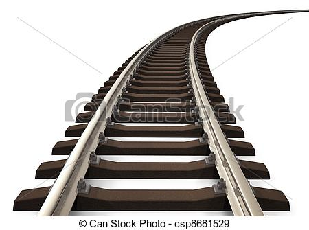 Train track Clipartby realrocking10/2,167; Curved railroad track - Single curved railroad track.