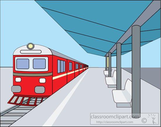 Train Train At Covered Outdoor Train Sta-Train Train At Covered Outdoor Train Station Clipart 814788-2