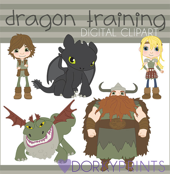 Train Your Dragon Clipart Set -Personal and Limited Commercial- Toothless, Hiccup, Astrid