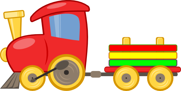 Train4 - Toy Train Clipart