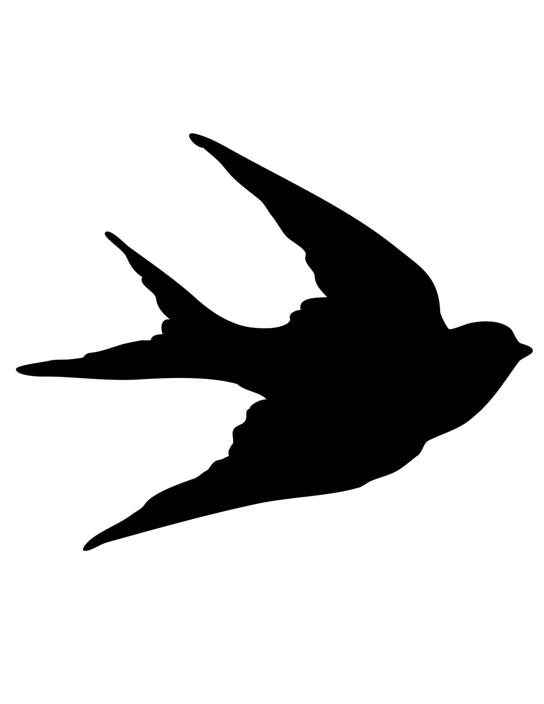 Transfer Printables Bird Silhouettes Swa-Transfer Printables Bird Silhouettes Swallows The Graphics Fairy-18