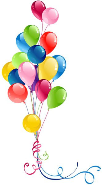 Transparent Bunch Balloons Clipart. Birthday ...