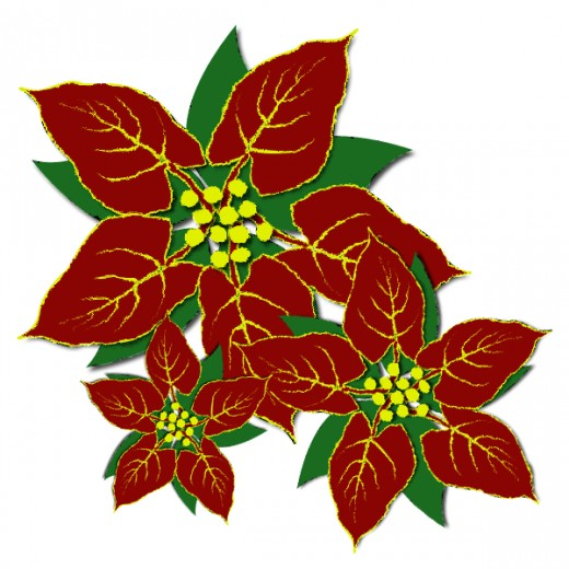 Transparent Christmas Garland With Poins-Transparent Christmas Garland with Poinsettias PNG Clipart; Free Christmas Clip  Art Images - Nativity, Wreaths, Trees u0026 More!-18
