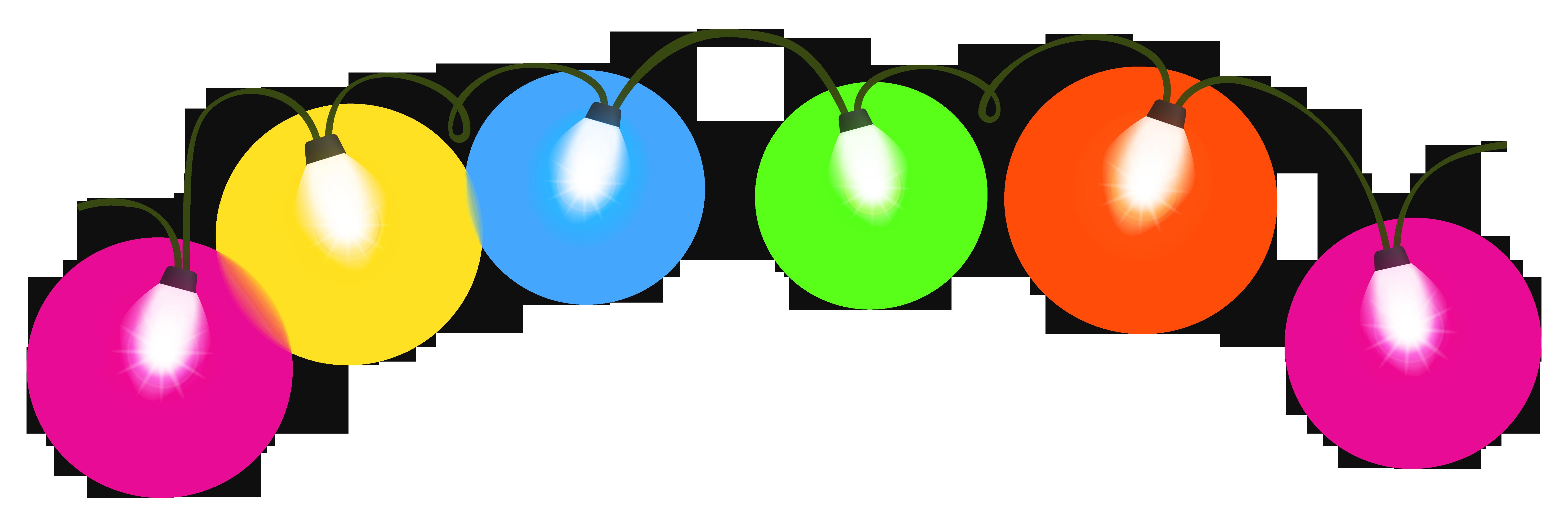 Transparent christmas lights clipart 2