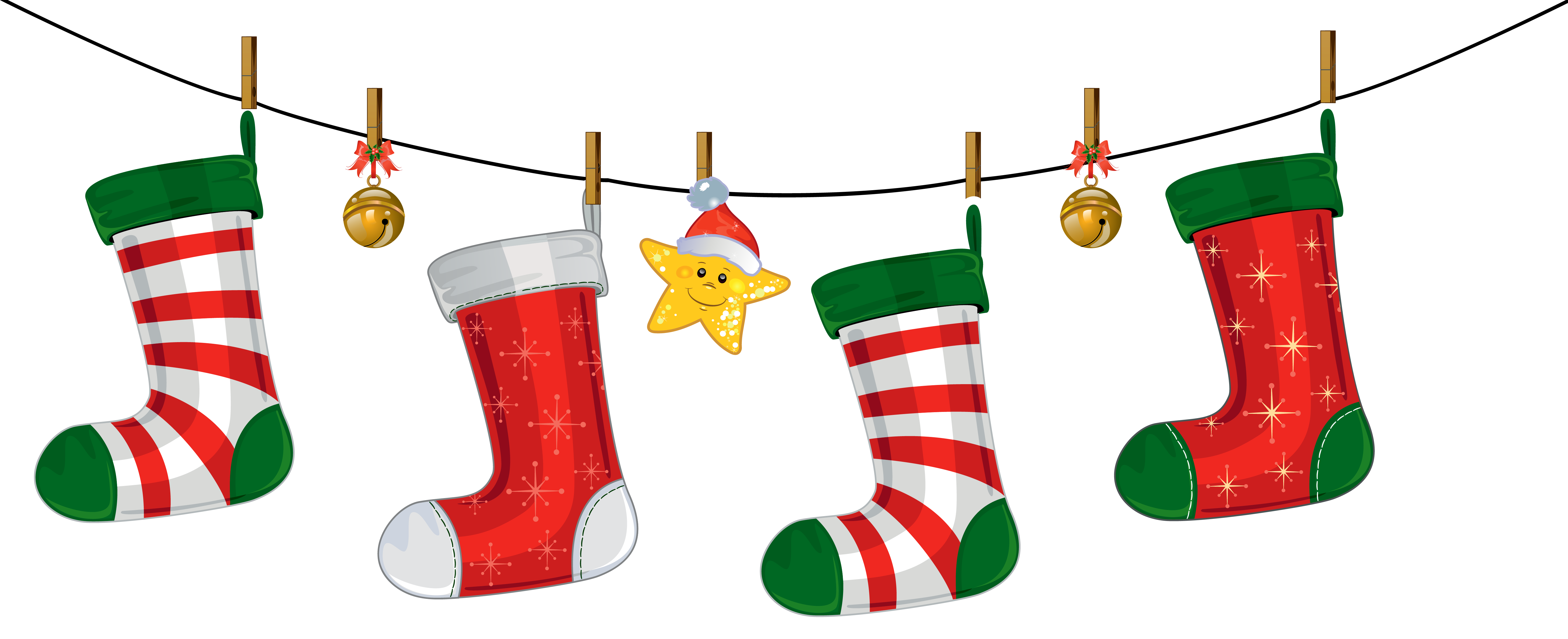 Transparent Christmas Stockings Decorati-Transparent Christmas Stockings Decoration Png Clipart Japoland-8