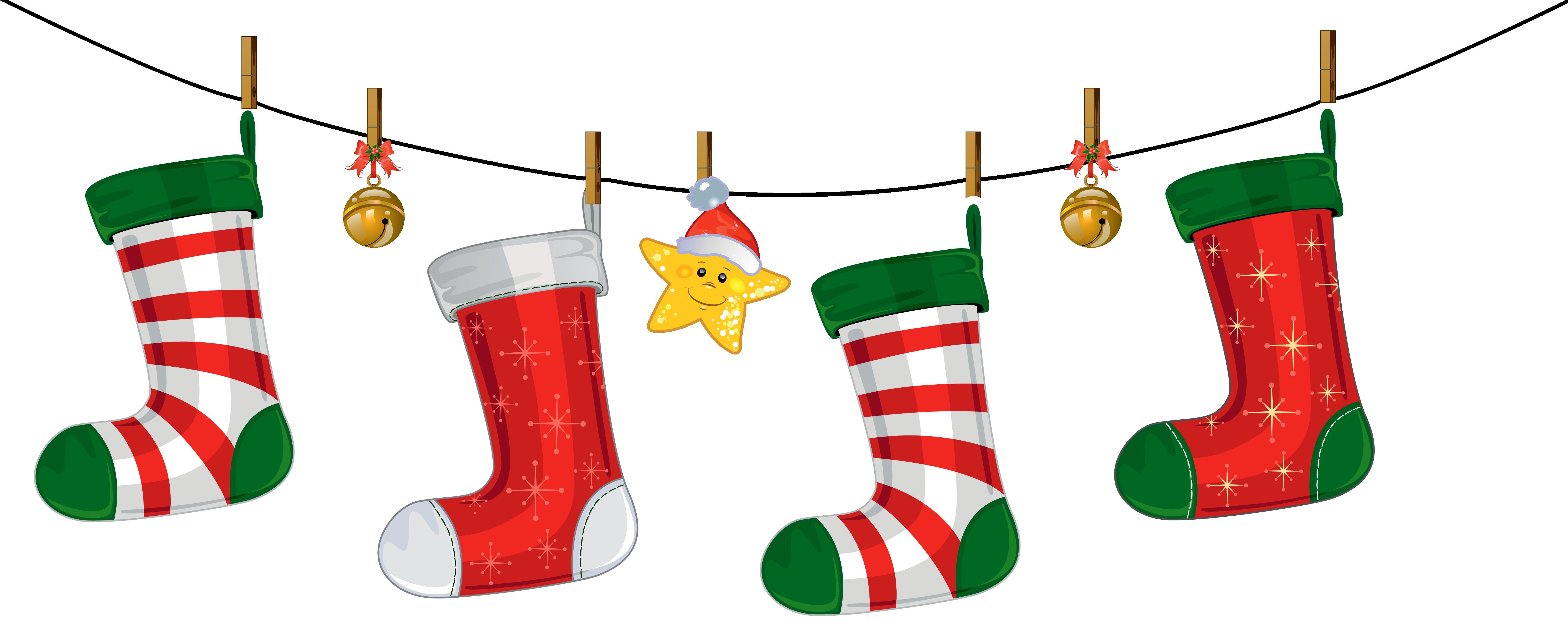 Transparent Christmas Stockings Decoration Png Clipart Japoland