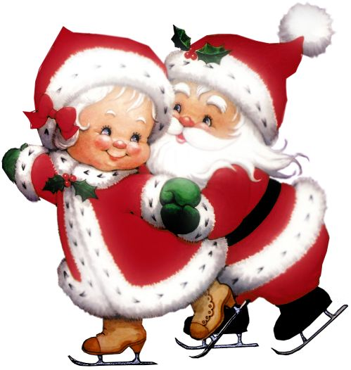 Transparent Cute Mrs Claus And Mr Claus -Transparent Cute Mrs Claus and Mr Claus PNG Clipart-19